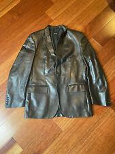 HUGO BOSS 'CONTEN' Black Label Mens Brown Lamb Leather Jacket 40R