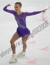 Ice Skating Dress.Purple Baton Twirling Dance Competition Figure Skating Dress