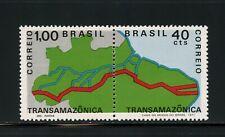 T711  Brazil  1971  Trans-Amazon highway  transport maps  pair    MNH
