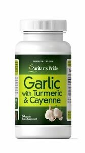 Garlic, Turmeric & Cayenne by Puritan's Pride, 60 Capsules