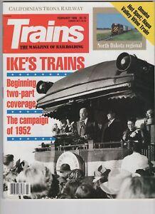 Trains Magazine Railroading Feb 1990 Ike's Trains