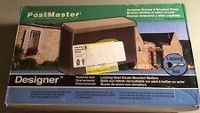 "Postmaster Designer Wall Mount Mailbox 16 1/2"" x 4 ' x 9 NIB"