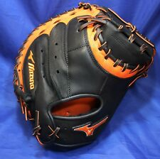 "Mizuno GXC50PSE3(34"") Baseball Catcher's Mitt (Black/Orange)"