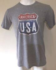 NWT Men's Galt Signature American Shirt Gray America Home of the Brave - Medium