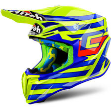 2018 Airoh Twist Motocross Enduro Helmet Cairoli Qatar Yellow Medium 57-58 Cms