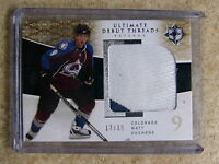 09-10 UD Ultimate 2 CLR Debut RC Threads Rookie Patch MATT DUCHENE /35
