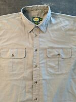 Men's Cabela's Outdoor Hunting Fishing Hiking Shirt Green w/elbow Patches Sz XL