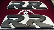 FIREBLADE SILVER CHROME BLACK LARGE RR CBR 900 MID FAIRING PAIR DECALS STICKERS