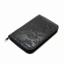 PUEEN 168 Nail Stamp Plate Holder Organizer Black Rose Lace Pattern