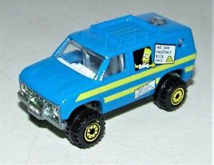 Vintage The Simpsons 1990 Hot Wheels Bart & Lisa Blackwall Camper Truck Van