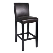 """NEW!  WOOD/LEATHER BARSTOOL - 29"""" BAR/COUNTER STOOL - KENDALL-SET OF 4 - BROWN"""