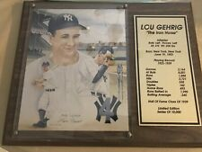 Lou Gehrig Ltd Edition, Signed Numered Plaque By Len Froio
