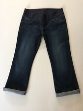BNWT NEXT MATERNITY CROP BLUE JEANS JERSEY PANEL SZ 12 R  NEW WITH TAGS