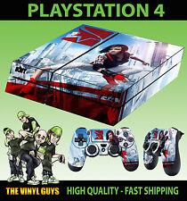 PS4 Piel Mirrors Edge Catalyst Faith CONNORS Pegatina NUEVO + Pad vinilo laid