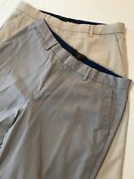 *LOT OF 2* Banana Republic 34 x 32 Non Iron Tailored Fit Gray Taupe Dress Pants