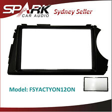 CT Double 2 DIN Fascia Dash Facia Kit Panel Plate For Ssangyong Actyon 2007-2011