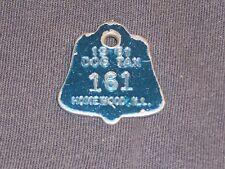 Vintage Dog Tax License Tag Homewood Illinois IL 1961  # 161 Bell Shape    DS20