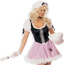 LITTLE MISS MUFFET Spider Bow Cap Hat Spoon Pink Polka Dot Lace-Up Corset Dress