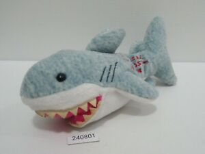 "Jaws Shark 240801 Universal Studio Japan 7"" Beanie Plush Stuffed Toy Doll Japan"