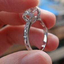 Engagement Ring 925 Sterling Silver 1.50Ct White Moissanite Round Cut Wedding