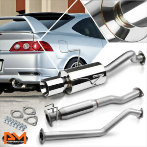 """For 02-06 Acura RSX DC5 Non Type-S K20A3 4"""" Rolled Tip Muffler Catback Exhaust"""