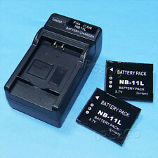 2x Replacement 680mAh Battery Wall Charger for Canon PowerShot A4000 IS Camera