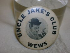 """Vintage WEWS Uncle Jake's House Club Pinback Button 1 1/4""""  Cleveland OH TV"""