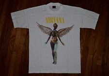 Original 1993 NIRVANA in UTERO Brockum tag T-Shirt vintage 90s grunge rock XL