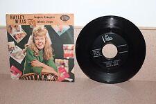 "Hayley Mills Jeepers Creepers/Johnny Jingo 7"" vinyl picture sleeve Vista F395"