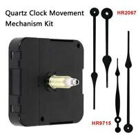 Quartz Clock Movement Mechanism Motor Fitting w/Long Hands Kit Parts Battery USA