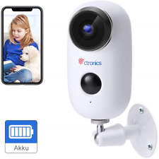 [1080P] Ctronics Outdoor Security Camera Home Wireless WiFi Camera Rechargeable