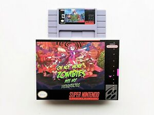 Oh No More Zombies Ate My Neighbors Game / Case SNES Super Nintendo English USA