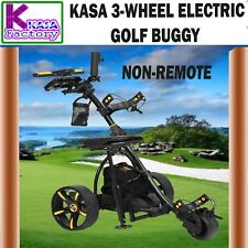KASA PRO S7-E 3 Wheels Digital Electric Golf Buggy - Black