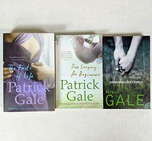Patrick Gale 3x Paperback Books Dangerous Pleasures, Facts of Life, Tree Surgery