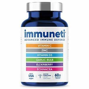 Immuneti Advanced Immune Defense 6 in 1 Powerful Vitamin Blend Zinc Echinacea
