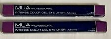 Lot of 2 MUA Professional Intense Color Gel Eye Liner Aubergine 1.2g NEW 350592