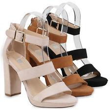 Damen Sandaletten High Heels Blockabsatz Party Sommer Absatzschuhe 834010 Schuhe