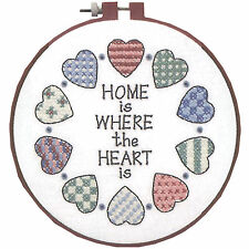 Cross Stitch Kit ~ Learn a Craft Home Where The Heart Is For BEGINNERS #72408