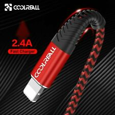 Coolreall USB Cable for iPhone 12 11 pro max Xr X 8 7 6 plus 6s plus iPad 2.4A