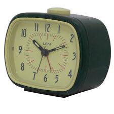 Leni Retro Alarm Clock Black 11cm (W)
