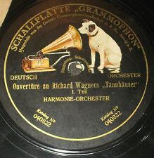 78rpm/Grammophon 040822/WAGNER/OUVERTÜRE TANNHÄUSER 1+2 TEIL/HARMONIE ORCHESTER