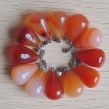 Fashion natural Red onyx water drop charms pendants 50pcs/lot Wholesale