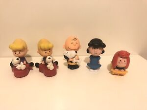 5 x Peanuts Snoopy Charlie Brown Lucy Woodstock McDonald's 2015 Toy Lot Bundle