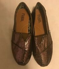 FLOJOS Bronze Glitter Flat Shoes Size 9M 707 Bella