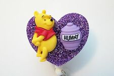 WINNIE THE POO HUNNY RN MEDICAL DOCTOR EMT NURSE VET TEACHER ID BADGE HOLDER