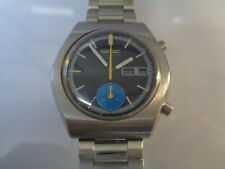 Seiko Chronograph Mens Watch Day & Date Automatic 6139-8029 Blue Dial SN. 431304