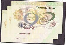 Thomas de la Rue Promotional note  UNC x 3