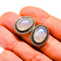 "Rainbow Moonstone 925 Sterling Silver Earrings 3/4"" Ana Co Jewelry E410634F"