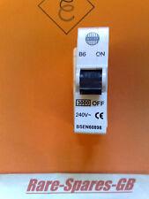 *TESTED* WYLEX 6A 6 AMP B6 PLUG IN MCB with WHITE BASE * MODERN BSEN60898 TYPE