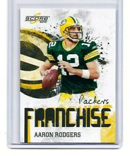AARON RODGERS * GREEN BAY PACKERS *  2010 SCORE - FRANCHISE - INSERT CARD #14